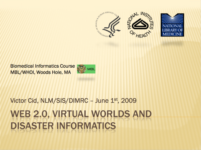 Using Web 2.0 And Virtual Worlds In Disaster Management