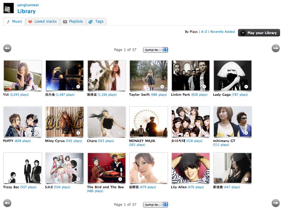 My Last.fm Library