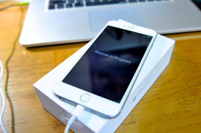 開機~ 然後開始同步之前iPhone 4s的資料~