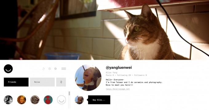 Porfile: user's personal main page.
