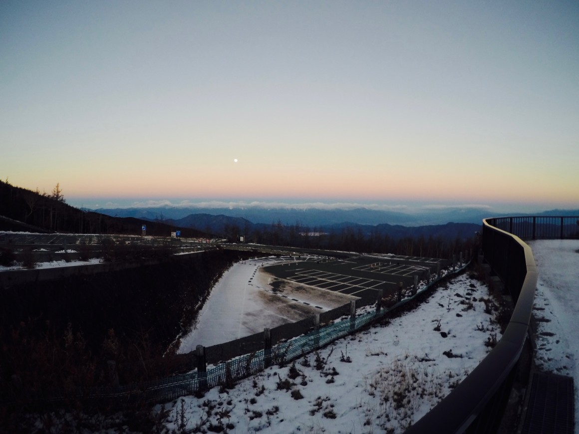 富士山五合目清晨