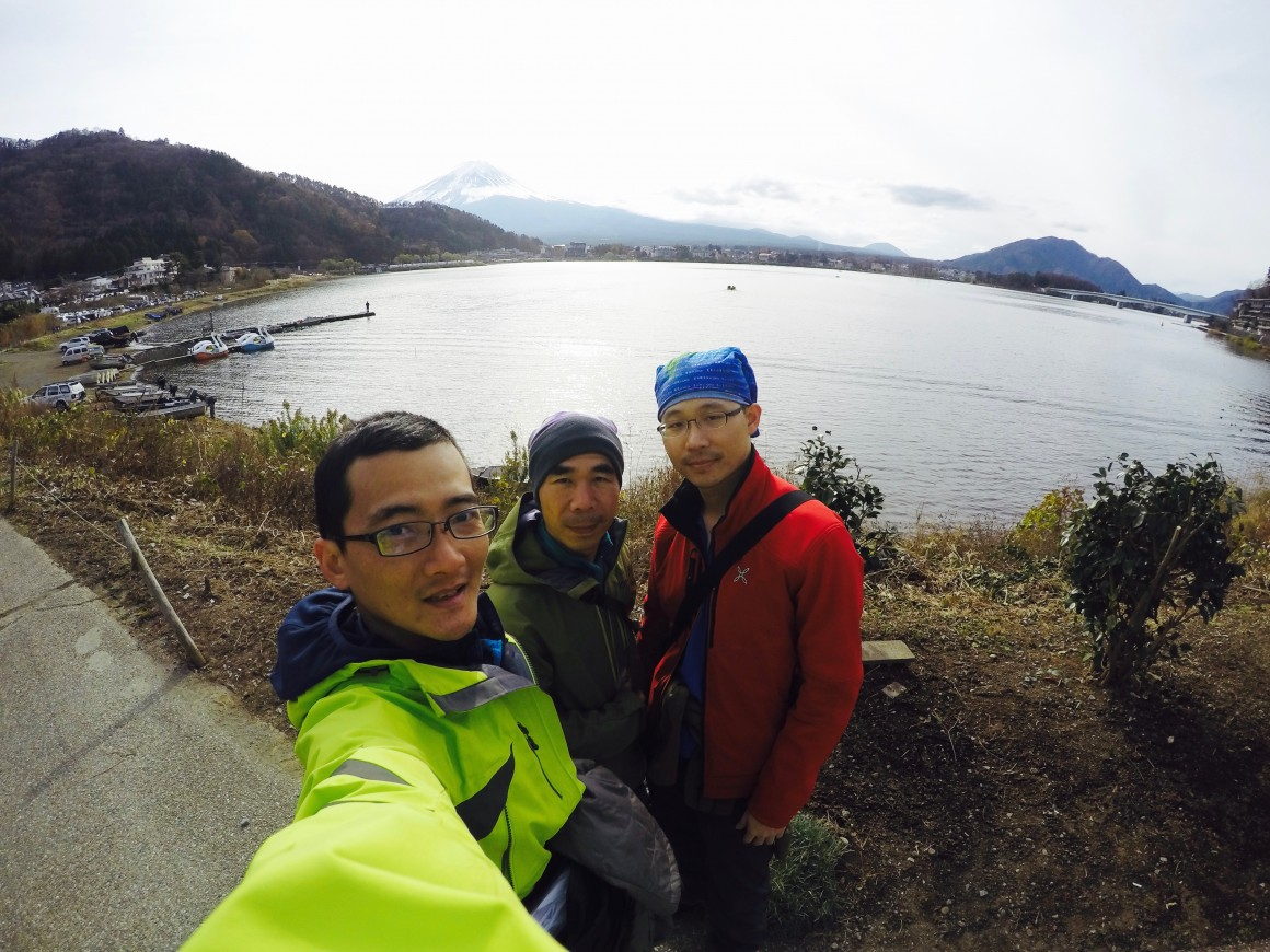 河口湖遠眺富士山!